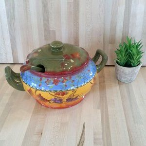 Mexican Hand Painted Pottery Serving Dish